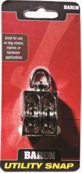 """Double Pulley, With Swivel, 1-1/2"""""""