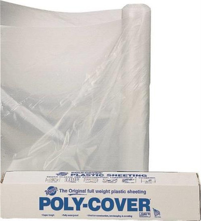 Plastic Sheeting, 6 Mil,  8' x 100', Clear