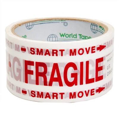 Smart Move, Fragile, Carton Sealing Tape, 48 MM x 30 Yds