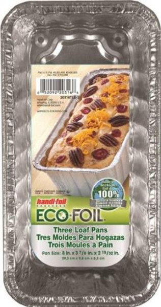 Disposable Loaf Pan 3 Pack