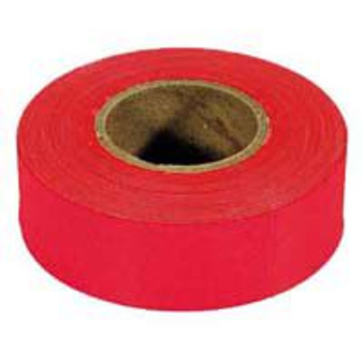Flagging Tape, Glo-Red, 150 Ft