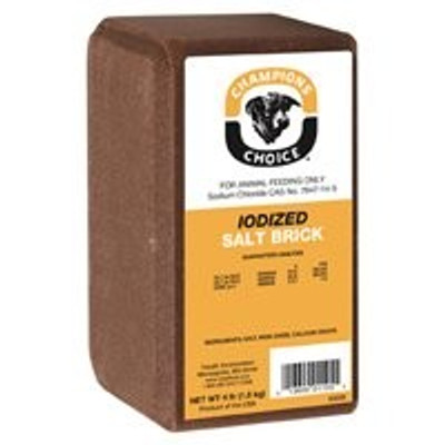 Salt Block, Iodized,  4 Lb