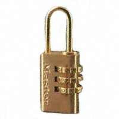 Master Lock, 630D, Solid Brass Combination Lock