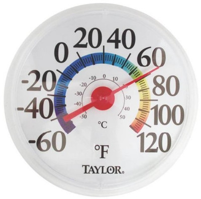 "Thermometer, Outdoor, ""Rainbow"" 12"""
