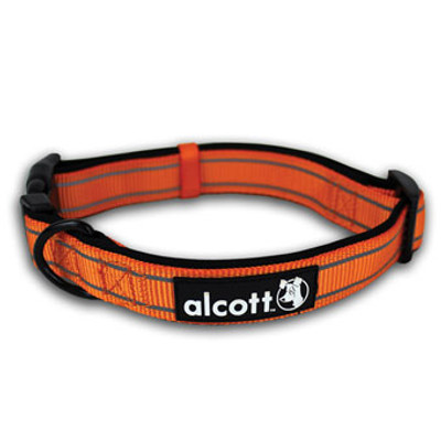 "Dog Collar, Neon Orange, Large, 18"" - 26"""