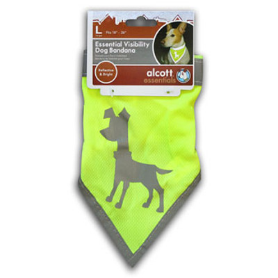 Dog Bandana, Neon Yellow, Large
