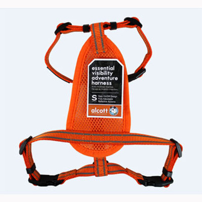 Dog Harness, Neon Orange, Small