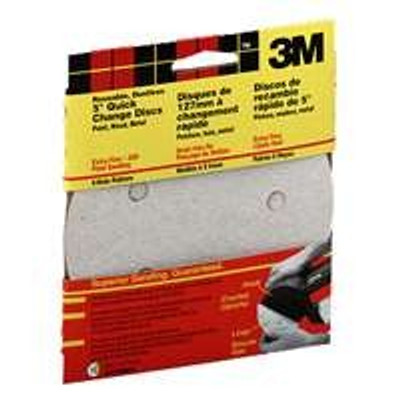 "3M, 5"" Hook & Loop Sanding Disc, 5 Hole, 120 Grit, 5 Pack"