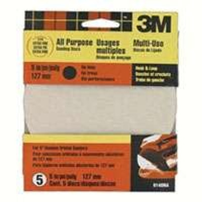 "3M, 5"" Hook & Loop Sanding Disc, 220 Grit, 5 Pack"