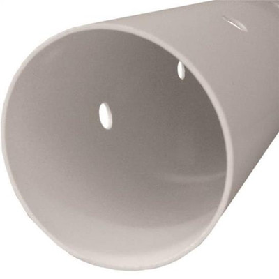 """PVC S&D, 3"""" x 10' , Pipe, Perforated, Bell End"""
