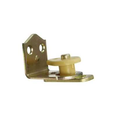 Cafe Door Hinge, Brass Plated Steel