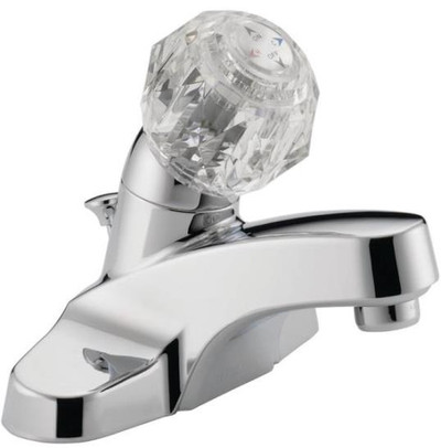 Lavatory Faucet, Single Handle, Chrome, With Pop-Up