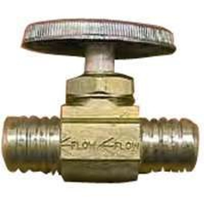 "Ball Valve, PEX, 1/2"" Barb, Stop, Brass"