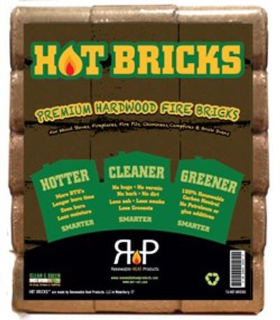 Hot Bricks 15 Pack Hardwood, 29 Lb
