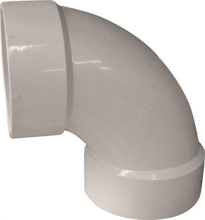 "PVC DWV, 4"", Elbow, 90 Deg"