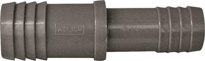"""Barbed Tube Fittings, 1"""" x 3/4"""", Coupling, Polypropylene"""
