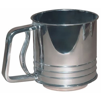 Flour Sifter 5 Cup Stainless Steel