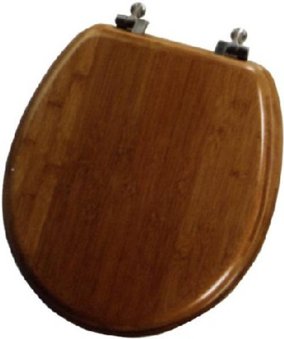 Toilet Seat, round, Dark Bamboo, Wood