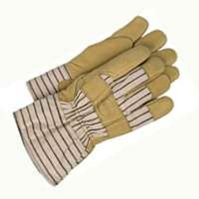 Gloves, Men's Leather Palm Work Glove With Lining - Large