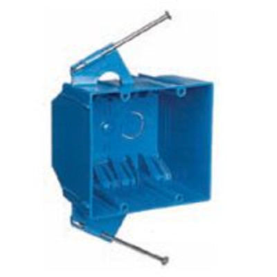 Switch Box, 2 Gang, PVC, With Nails