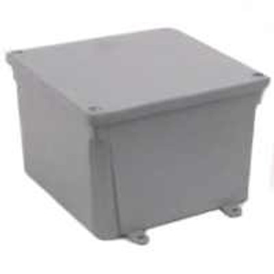 "Junction Box, 6"" x 6"" x 4"", PVC"