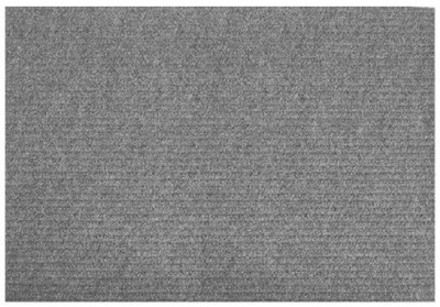 """Floor Mat Charcoal 24 x 36"""" Rubber Backed"""