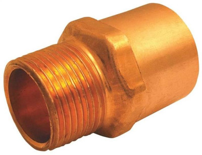 """Copper Fitting, 1"""", CXM, Adapter x 3/4"""" MPT"""