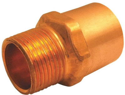 """Copper Fitting, 1"""", CXF, Adapter x 3/4"""" FPT"""