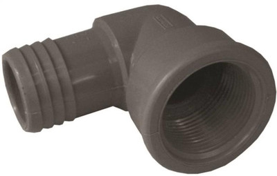 """Barbed Tube Fittings, 1-1/4"""", Elbow x FPT, Polypropylene"""