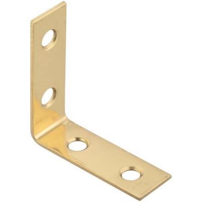"Inside Corner, Brass, 1-1/2"" , 4 Pack With Screws"