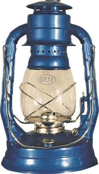 "Hurricane Oil Lantern, No.  8, 13-1/2"", Blue"