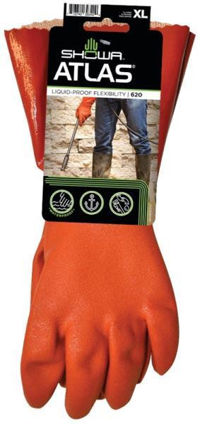 Gloves, Atlas 620, PVC Coated, Cotton Lined, XLarge