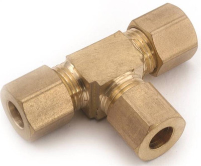 """Compression Fittings, 1/2"""", Tee, Brass"""