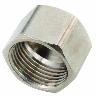 """Compression Fittings, 3/8"""", Nut, Chrome Plated Brass"""