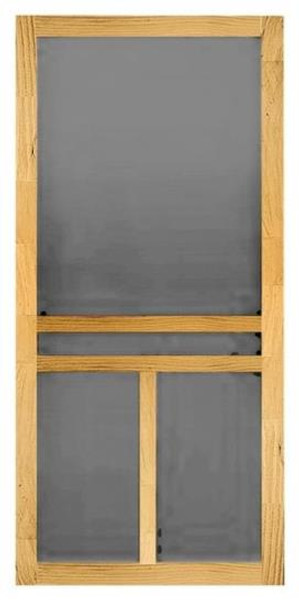 "Wood Screen Door, Clear Pine, Unfinished, 30"" x 80"" x 1-1/8"""