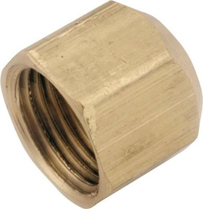 "Flare Fittings, 5/8"", Cap, Brass"