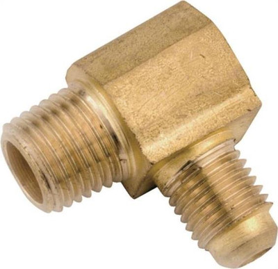 """Flare Fittings, 3/8"""", Elbow, x 1/4"""" MPT, Brass"""