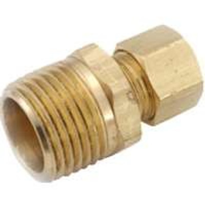 """Compression Fittings, 5/8"""", Adapter x 1/2"""" MFPT, Brass"""