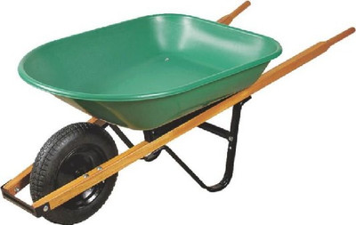 Wheelbarrow, 4 CuFt, Steel, With Pneumatic Tire