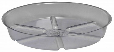 Planter Saucer, 10 in Dia X 1-3/4 in H, Vinyl, Clear
