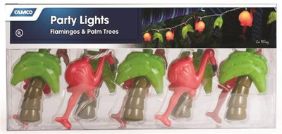 Party Lights, Flamingos & Palm Trees, 10 Light Set