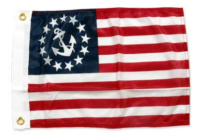 "US Yacht Ensigns Flag, 12"" x 18"""