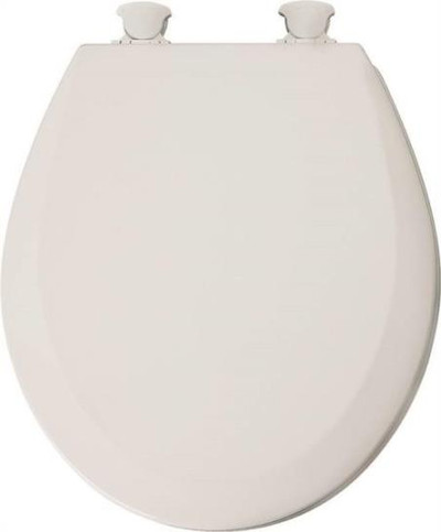 Toilet Seat, Round, Bone, Wood