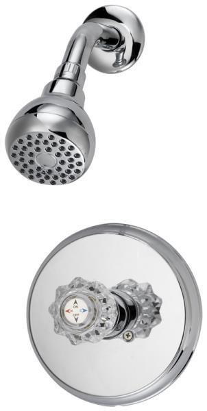 Shower Faucet Single Handle - Chrome