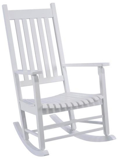 Rocker, Mission Box Frame, White,