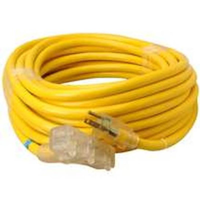 10/3, Extension Power Cord, 50', Yellow