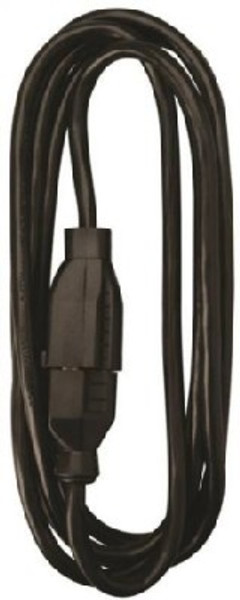 16/3, Electrical Extension Cord,   8', 13 Amp, 125 VAC, Black
