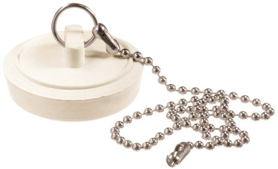 """Sink Stopper With Chain, 1-3/4"""""""