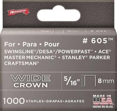 """Arrow, 605, Staple, Flat Heavy Duty Crown, 5/16"""""""