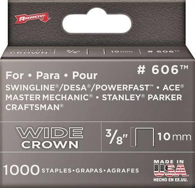 """Arrow, 606, Staple, Flat Heavy Duty Crown, 1/2"""" x 3/8"""""""